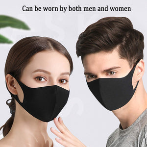 Fabric Face Mask Reusable Basic Protective Mouth Cover Black Camouflage