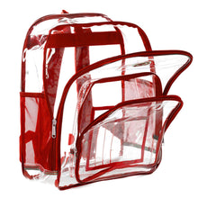 Load image into Gallery viewer, Heavy Duty Clear Backpack See Through PVC Stadium Security Transparent Workbag - k-cliffs