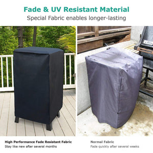 "Waterproof Electric Smoker Cover Square Grill Cover UV Resistant Durable Material for 30"" Grills - k-cliffs"
