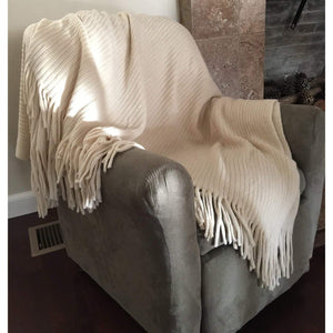 Deluxe Knitted Throw Blanket Womens Poncho Shawl Cloak Winter Long Scarf w/Fringes - k-cliffs