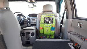 Car Backseat Organizer Kick Mat With Ipad Tablet Holder & Napkin Dispenser Pocket - k-cliffs
