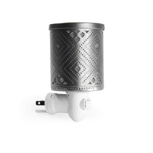 K-Cliffs Vintage Tribal Navaho Chinle Pattern Chrome Plug-in Fragrance Warmer Diffuser for Scented Wax Cubes & Essential Oils - k-cliffs