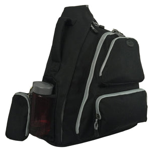 K-Cliffs Water-Resistant Sling Backpack | Safety Retro-Reflective Strip - k-cliffs