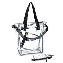 Load image into Gallery viewer, Clear Transparent No-Closure Tote Messenger Bag - k-cliffs
