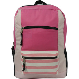 "18"" Contrast Basic Striped Backpack - k-cliffs"
