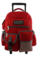 Load image into Gallery viewer, Rolling Backpack School Backpack with Wheels Quality Roller Book Bag Day Pack with Multiple Pockets - k-cliffs