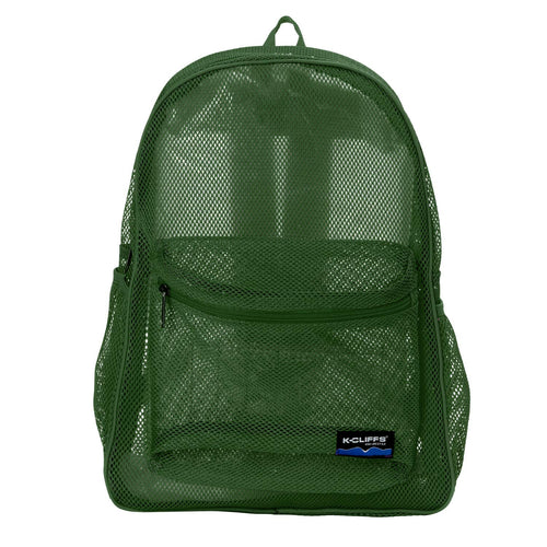 Mesh Backpack Heavy Duty Student Bookbag Quality Simple Classic School Book Bag - k-cliffs