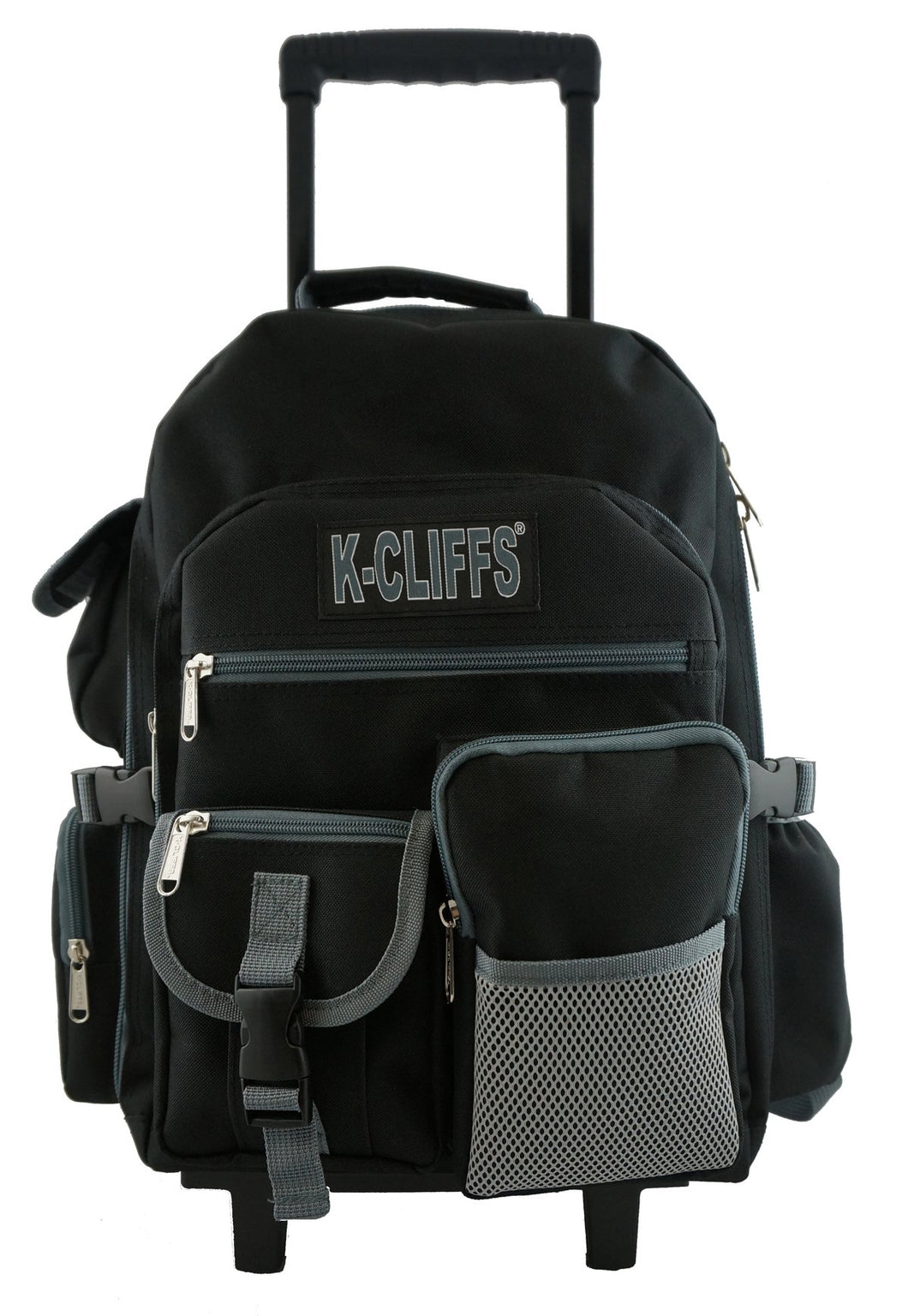 Rolling Backpack School Backpack with Wheels Quality Roller Book Bag Day Pack with Multiple Pockets - k-cliffs