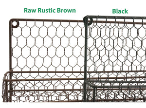4 Tier Rustic Brown Metal Wire Spice Rack Kitchen Wall Mount - k-cliffs