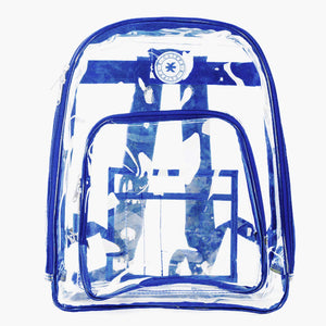 Heavy Duty Clear Backpack See Through PVC Stadium Security Transparent Workbag - k-cliffs
