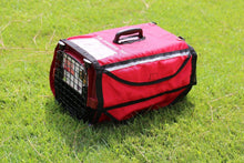 "Load image into Gallery viewer, 19"" Kennel Pet Crate Cover Emergency Red w/ Reflective Stripe - k-cliffs"