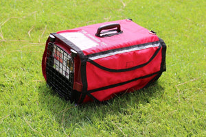 "19"" Kennel Pet Crate Cover Emergency Red w/ Reflective Stripe - k-cliffs"