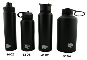 Vacuum Insulated Sport Water Bottle Flask Double Wall Stainless Steel Sports Flasks BPA Free 3 Lids Included Straw Coffee Sport Cap Thermo Flasks - k-cliffs