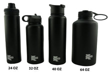 Load image into Gallery viewer, K-Cliffs Vacuum Insulated Sport Water Bottle Flask Double Wall Stainless Steel Sports Flasks BPA Free 3 Lids Included Straw Coffee Sport Cap Thermo Flasks - k-cliffs