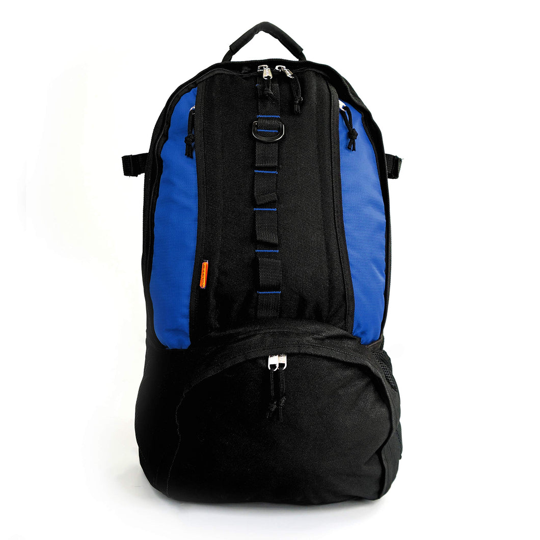 Baseball Backpack with Basketball Football Soccer Ball Storage Helmet Compartment Royal Blue - k-cliffs