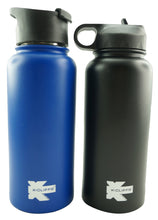 Load image into Gallery viewer, Vacuum Insulated Sport Water Bottle Flask Double Wall Stainless Steel Sports Flasks BPA Free 3 Lids Included Straw Coffee Sport Cap Thermo Flasks - k-cliffs