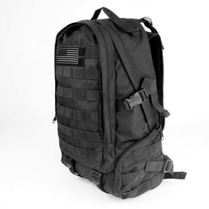 Large Black Military Tactical Backpack Molle Bug Out Rucksacks for Outdoor Camping Hiking Trekking Hunting - k-cliffs