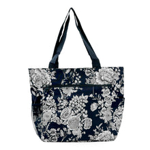 Load image into Gallery viewer, Large Print Patterned Tote Bag w/ Liner for the Beach, Groceries, & School