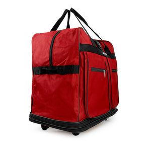 Multi Tiered Collapsible Expandable Wheeled Travel Duffle Bag w/Zippered Pockets