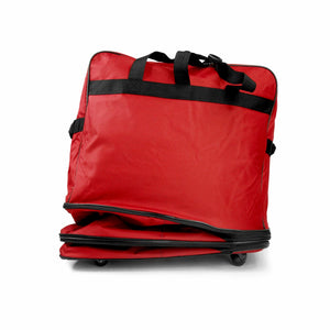 Multi Tiered Collapsible Expandable Wheeled Travel Cargo Ruffle Bag w/Zippered Pockets