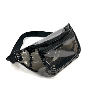 Anti-Theft 3-Zipper PVC Fanny Pack with Black Trim for Music Festivals & Raves