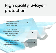 Load image into Gallery viewer, Face Mask 500pcs Disposable Masks with Elastic Earloops | 3-ply Breathable Non-Woven 3 Layer Protection Face Cover