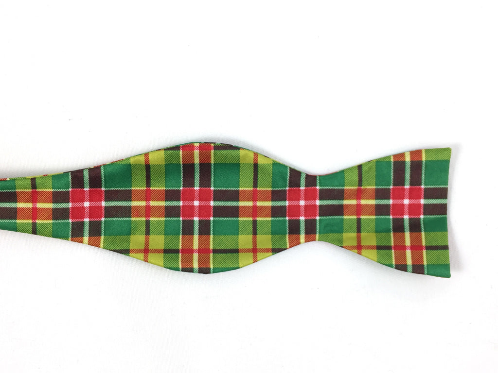 Holiday Tartan Beaux Tie - Green
