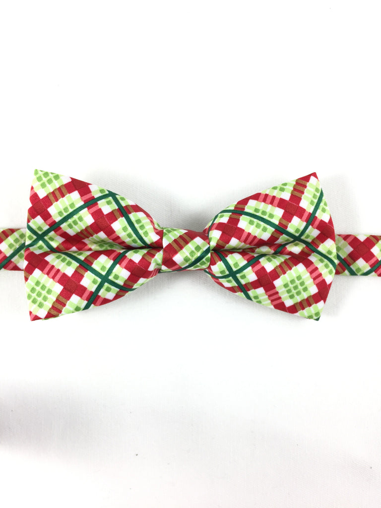 Holiday Plaid Beaux Tie - Pre-tied