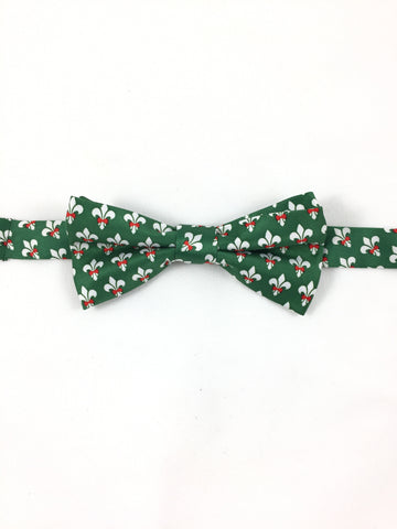 Beaux Tie - Green Holiday Edition - Pre-tied