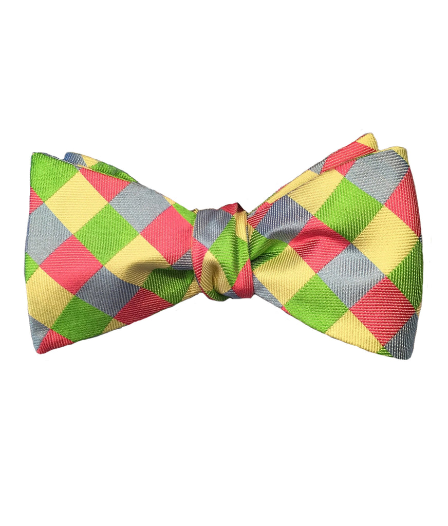 Pastel Checker Bow Tie
