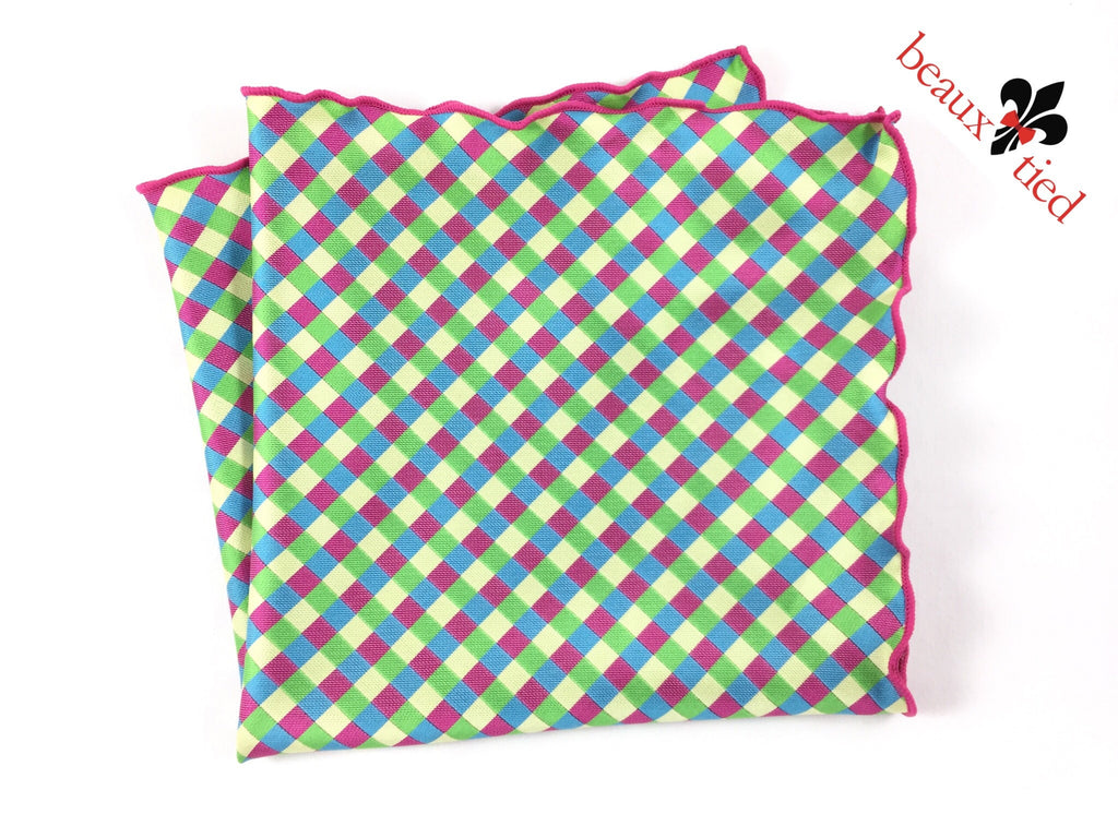 Pastel Checker 2.0 Pocket Square