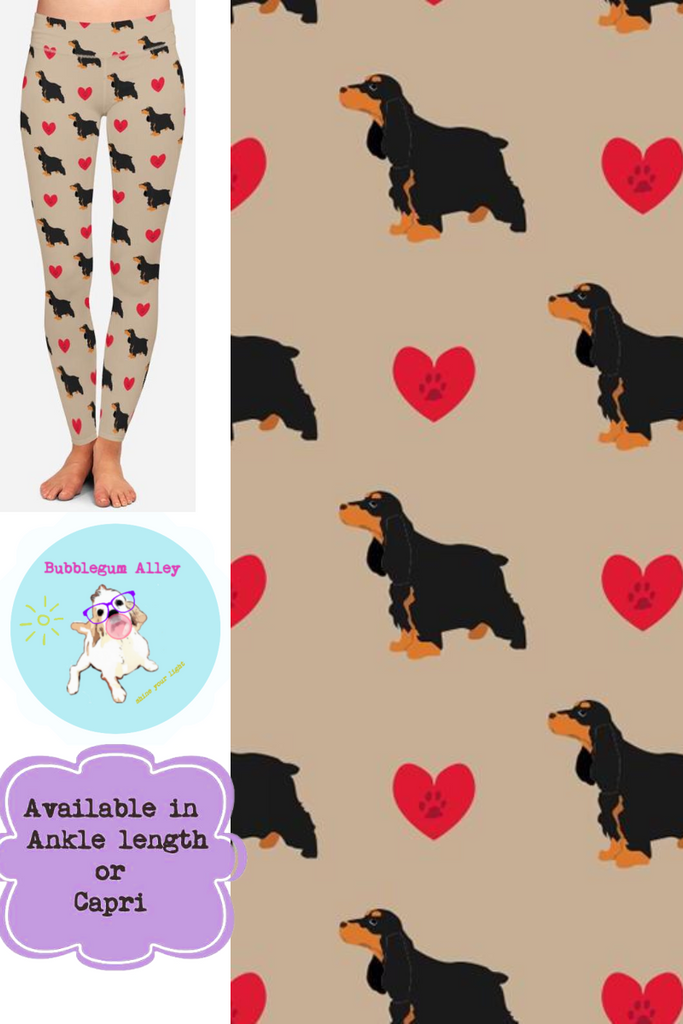 Leggings: English Cocker Spaniels (black/tan)
