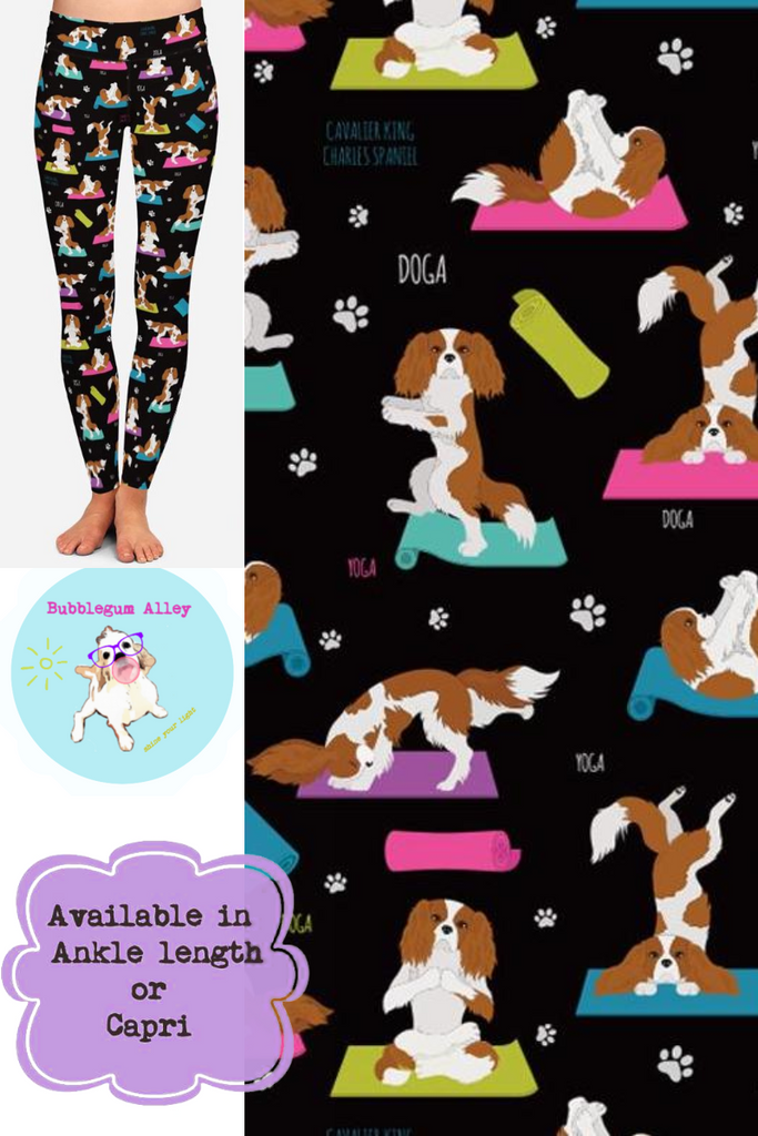 Leggings: Yoga Cavaliers (black)