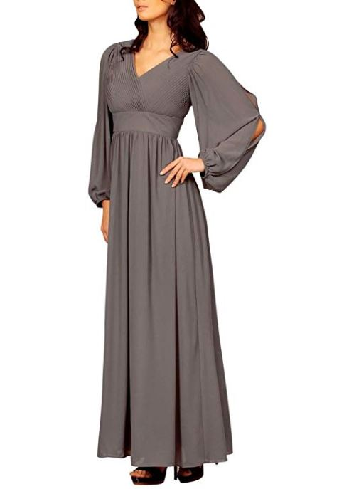 Long Sleeve Formal Dress