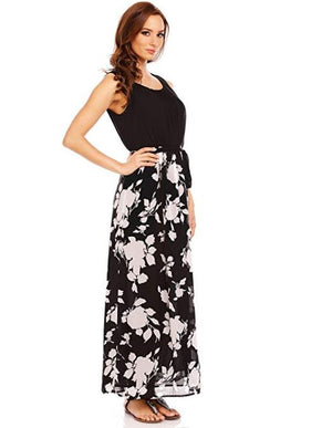 Sleeveless Evening Maxi Dress