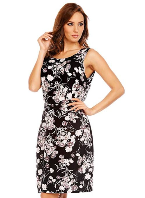 Royal Printed Flower A-Line Dress - Midi & Midi  Dresses | Fashionhouse