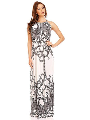 Elizabethan Flower Sleeveless Maxi Dress For Sale | Fashionhouse