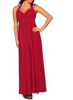 Glamour Halter Neck Evening Dress - Women Clothing | Fashionhouse