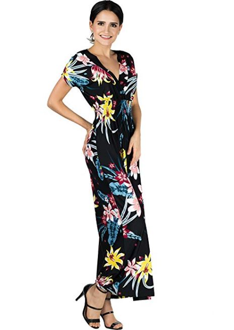 Tender Flower Printed Maxi Dress - Women Clothing | Fashionhouse