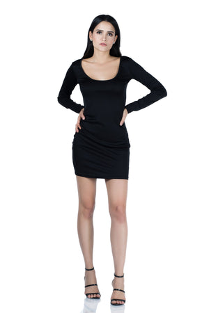 Riddle Style Long Sleeve Mini Dress- Midi & Midi  Dresses | Fashionhouse