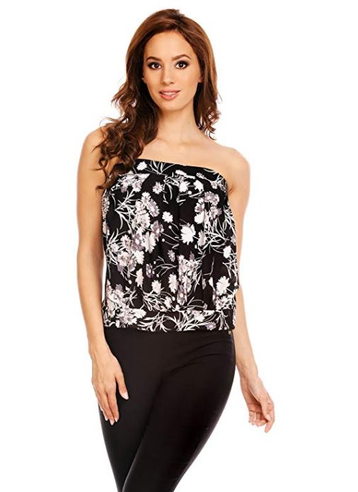 Floral Strapless Tube Top - Women Tops For Sale | Fashionhouse