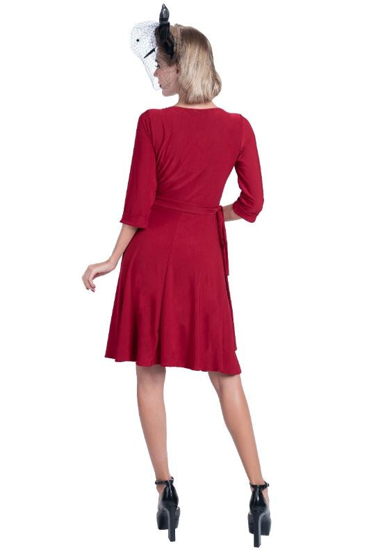 Casual Wrap Sleeves Dress