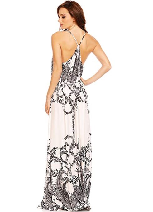 Long High Neck Maxi Dress