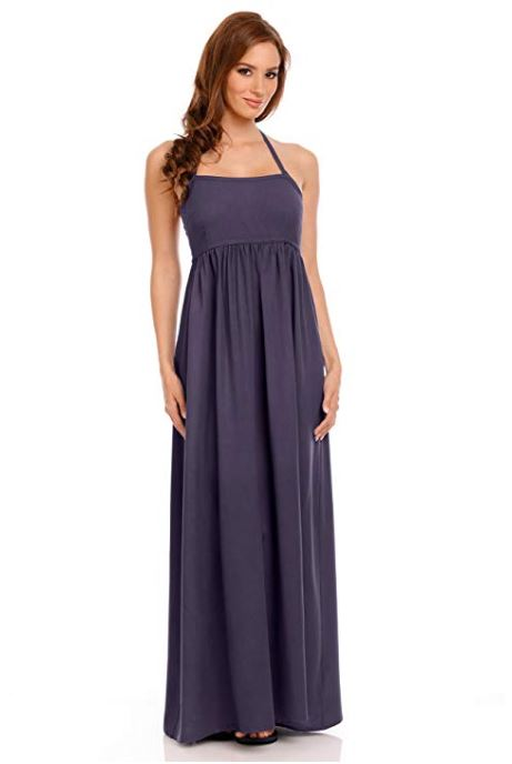 Elegant Tie Back  Maxi Dress