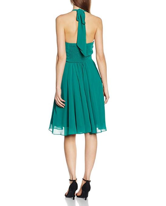Chiffon Cocktail Halterneck Dress
