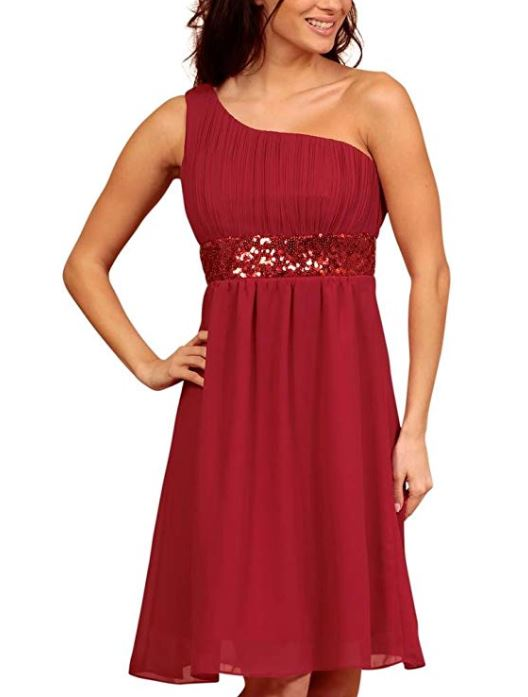 One Shoulder Cocktail Dress