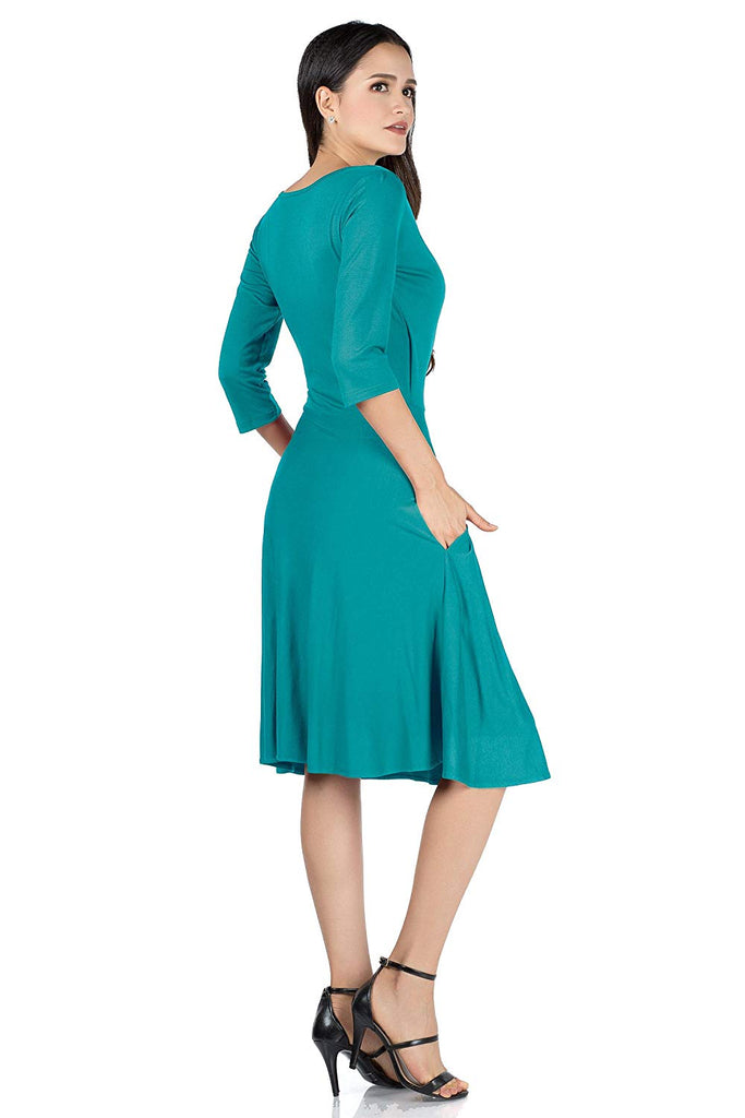 Elegant Casual Dress 3/4 Sleeve