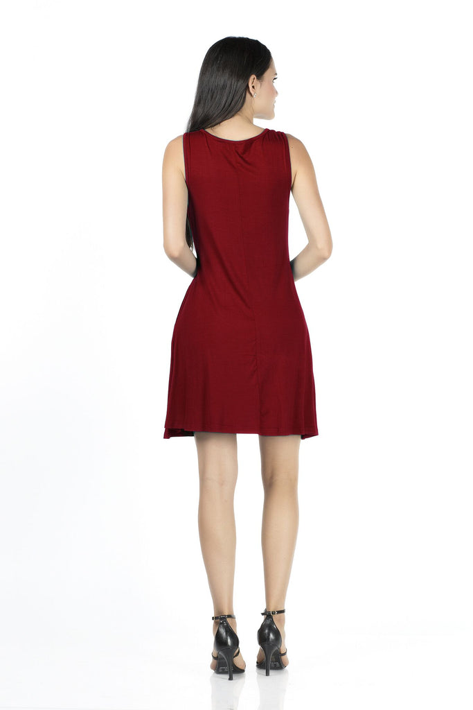 Casual Viscose Sleeveless Dress  in 10 Colours