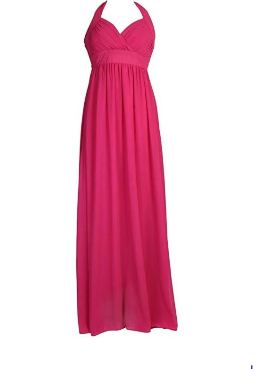 Halter Neck Chiffon Evening Dress