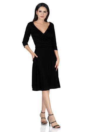 Mid Swing V-Neck Wrap Dress - Ladies Dresses | Fashionhouse